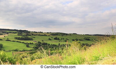 A timelapse recording of the Worth Valley countryside in West Yorkshire, Northern England.  The recording was made close to the village of Haworth.
