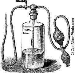 Wound Irrigator, vintage engraving - Wound Irrigator,...