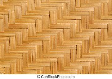 Woven bamboo mat - Fragment of woven natural shaving bamboo...