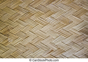 woven bamboo textured pattern background