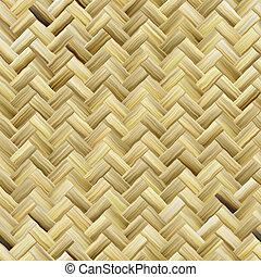 Woven basket texture seamlessly tiling rendered illustration