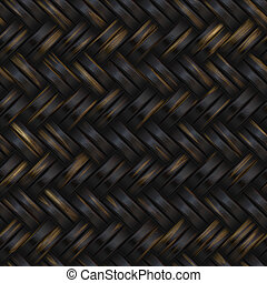 Woven basket twill texture seamlessly tiling background...