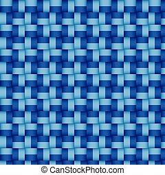 Woven blue pattern