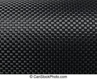 Black woven carbon fibre texture pattern background