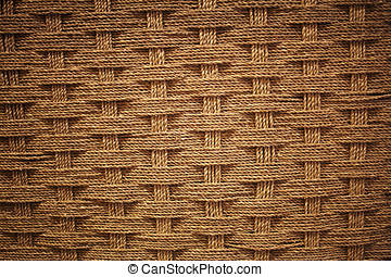 Woven coir background with vignette effect