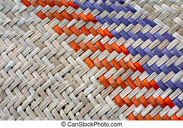 Woven flax traditional Maori culture - Woven flax (close up...
