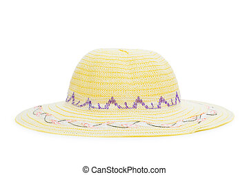 Woven hat isolated on the white background