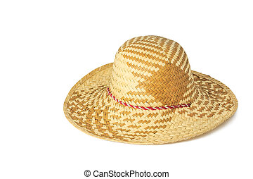 Woven hat isolated on white background