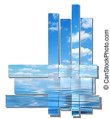 woven sky, paper-strip