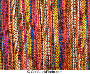 woven textile - Hand woven textile in bright colors.