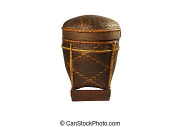 wovenbasket - closeup image of a handmade vintage woven ...