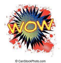 Wow Comic Exclamation - A comic cartoon style Wow...