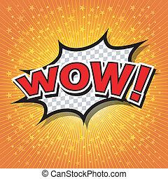 Wow! Comic Speech Bubble, Cartoon - Comic Speech Bubble, ...