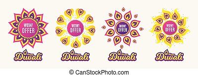 Wow offer. Great Sale price sign. Vector
