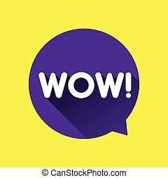 Wow speech bubble vector