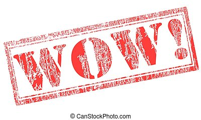 wow stamp - grunge stamp with text wow on vector ...