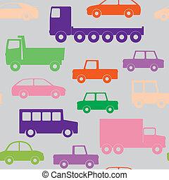 wozy, seamless, ciężarówki, próbka
