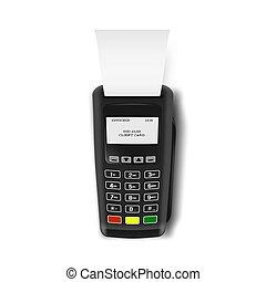 wpłaty, maszyna, terminal, rejestr, pos, gotówka