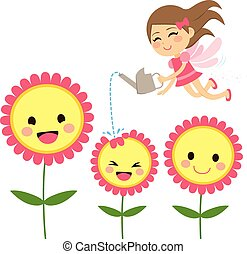 wróżka, kwiaty, ogrodnictwo