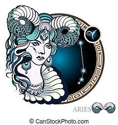 wr189 - Aries. Zodiac sign