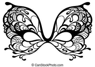 wr290 - Beautiful mask of lace. Mardi Gras vector