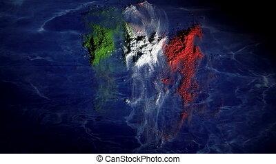 wrakkigheid, italië, kaart, tijd