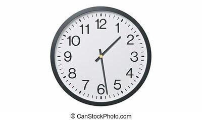 wrakkigheid, klok, tijd