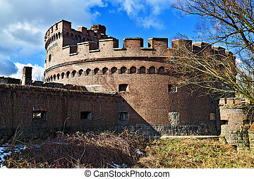 Wrangel Tower. Kaliningrad (until 1946 Koenigsberg), Russia...