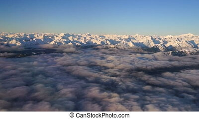 Wrangell Mountain Alaska Fly Over the Gulf of Alaska - A...