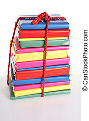 Wrapped books - Gift wrapped books for Christmas.
