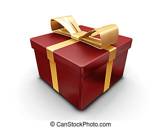 3D render of a wrapped gift