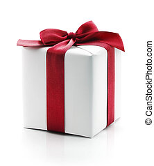 Wrapped gift box present - Gift box present. Wrapped with ...