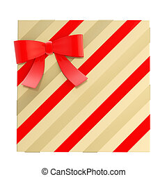Wrapped gift box with a bow