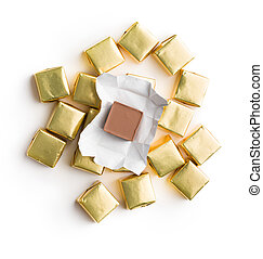 Wrapped nougat candy