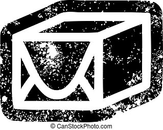 wrapped parcel distressed icon symbol