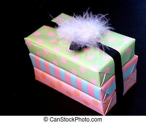 Wrapped presents - fun and colourful wrapped birthday...