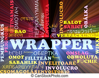 Wrapper multilanguage wordcloud background concept glowing