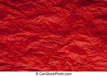Wrapping paper - Crumpled red wrapping paper
