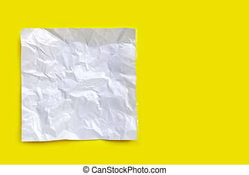 Wrapping paper on yellow background.