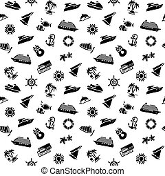 wrapping paper - transport icons, wallpaper, 10eps