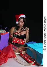 Wrapping woman