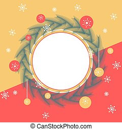 Wreath border for Christmas Wishes