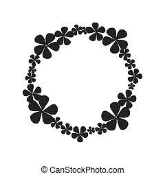 wreath crown flower icon. Vector graphic