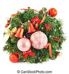 Wreath fir-tree branch decoration - Wreath fir-tree branch ...
