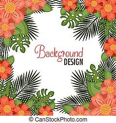 wreath floral decorative background