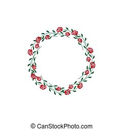 Wreath floral isolated design template vector