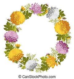 Wreath from chrysanthemum
