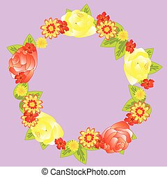 Wreath from flower and foliages
