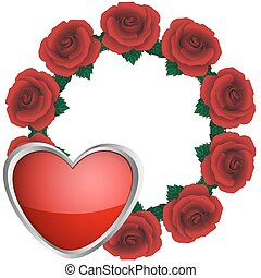 Wreath from roses