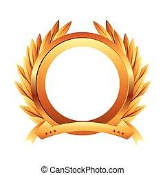 wreath gold award icon